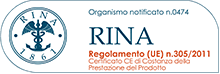 Certificazione RINA 1