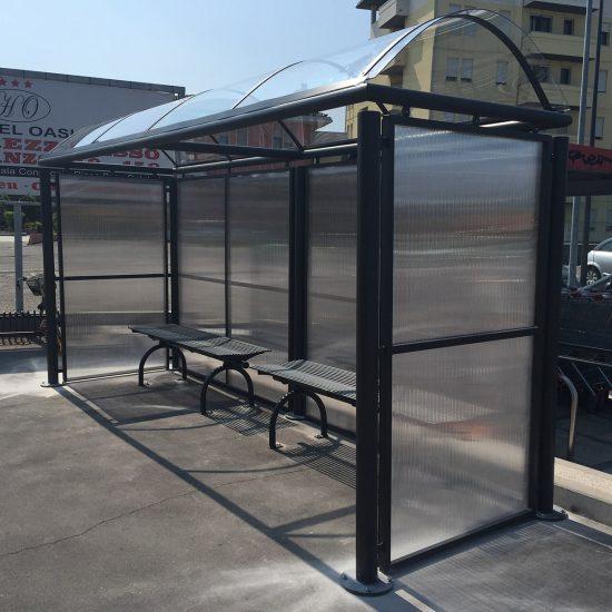 pensilina fermate bus installata